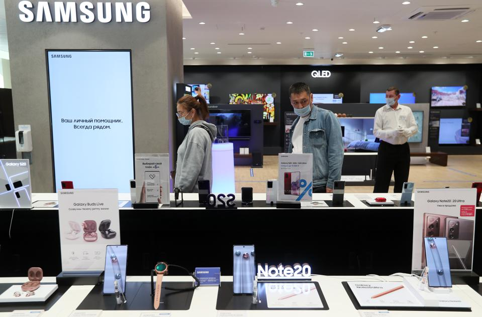 Samsung puts on sale new products in Moscow