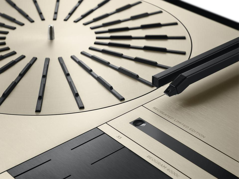 Close up of Beogram 4000c from Bang & Olufsen
