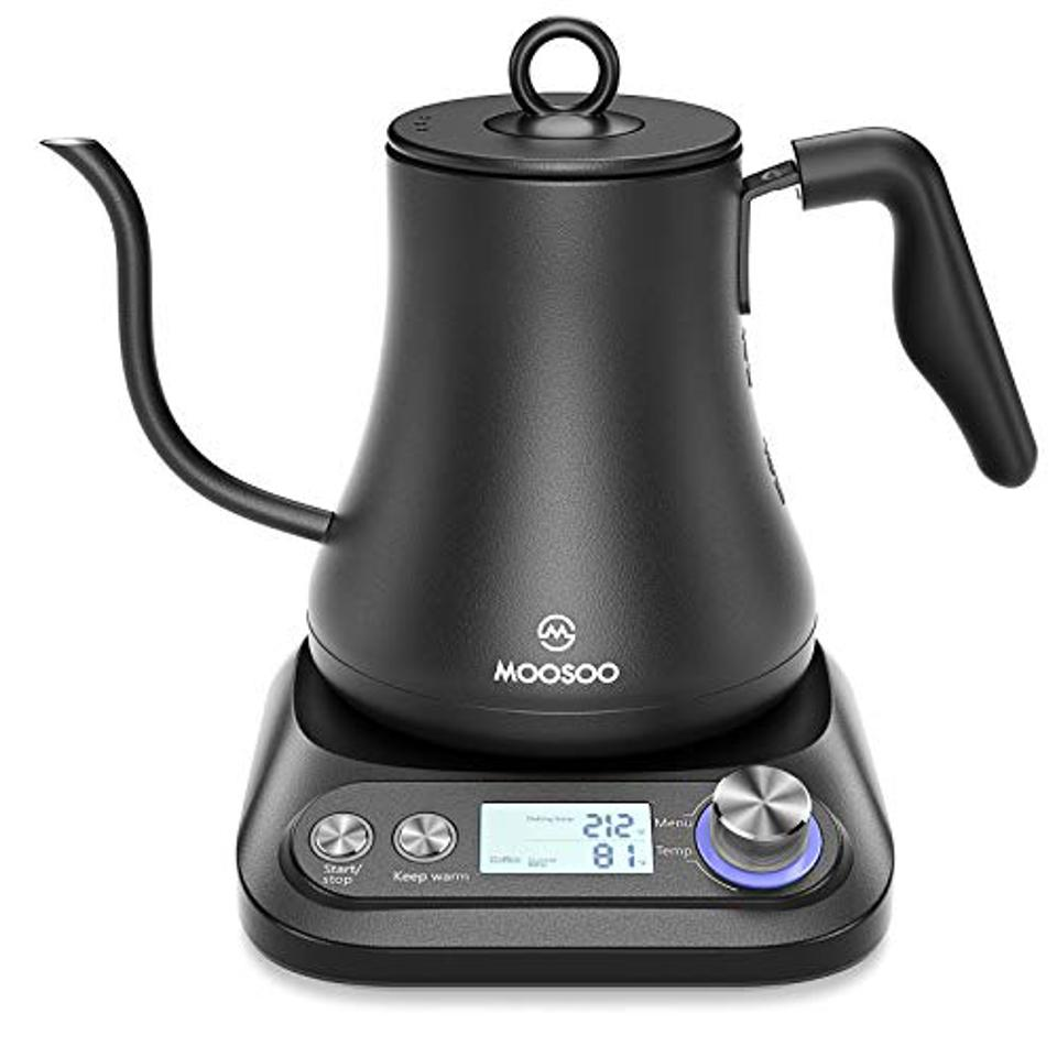 MOOSOO Electric Gooseneck Kettle with Variable Temperature Control & Presets