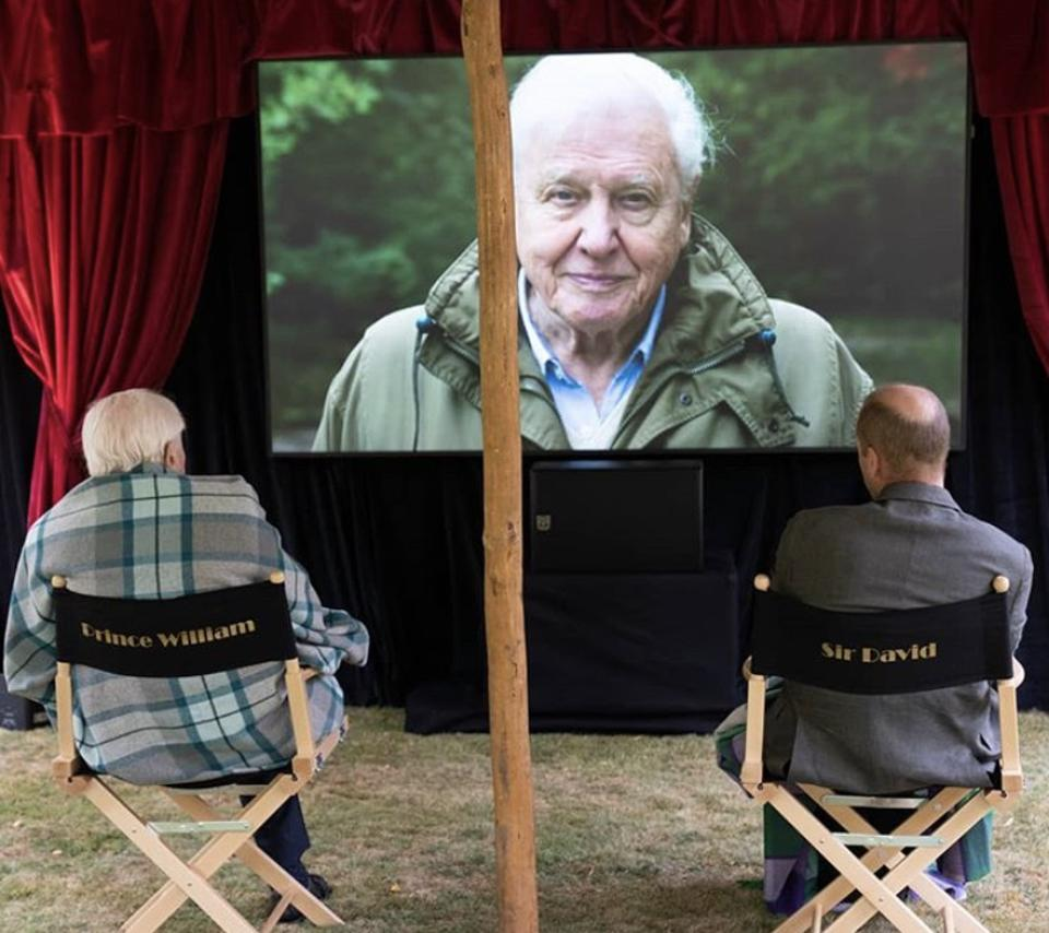 Sir David Attenborough and Prince William watch 'A Life on Earth,' Attenborough's recently released documentary.