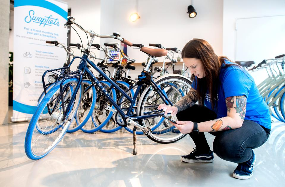 Dutch start-up, Swapfiets, has been offering a bicycle subscription since 2014.