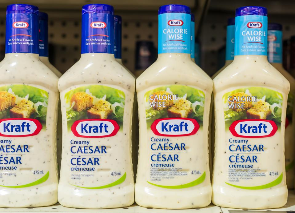 Kraft Ceasar Salad dressing in shelves. Kraft Foods Group,...