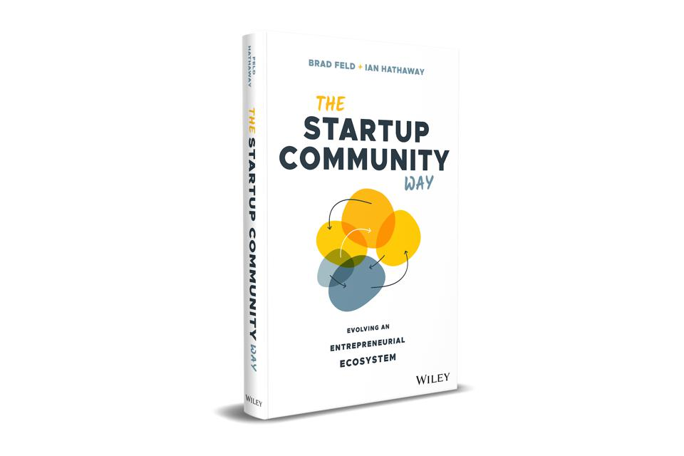 3-dimensional picture of Brad Feld and Ian Hathaway's book, The Startup Community Way