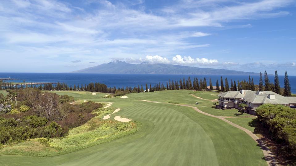 Kapalua's 18th hole, Plantation Course