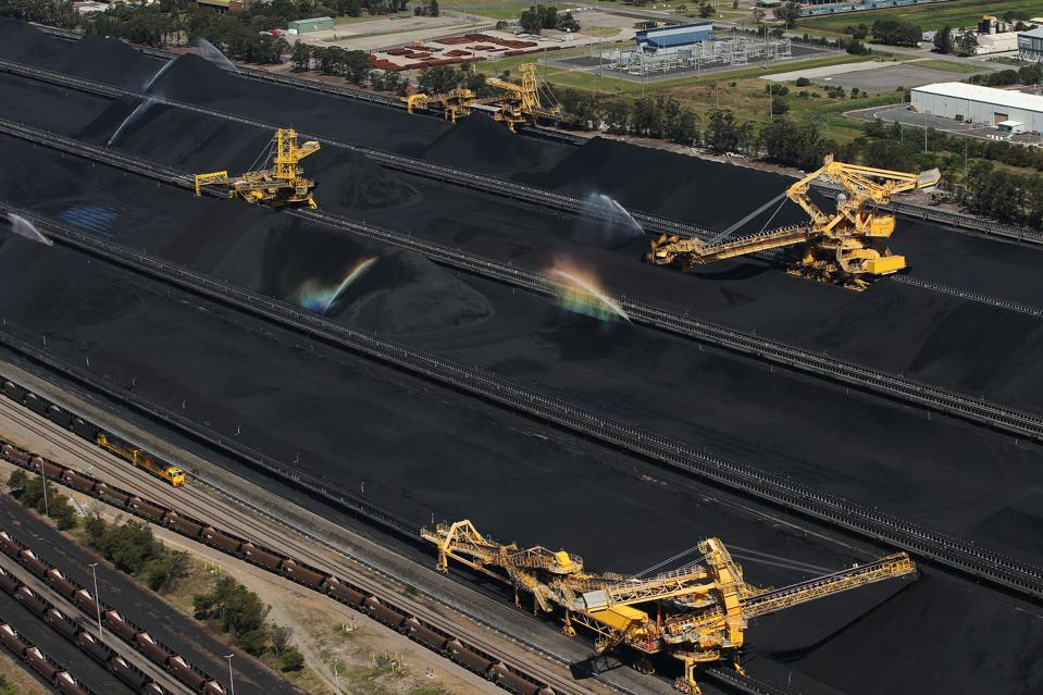 Aerial Views Of Newcastle Coal Industry And Glencore Plc Coal Operations