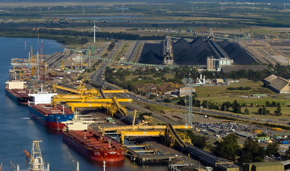 Aerial Photographs Of Coal & Shipping In Newcastle