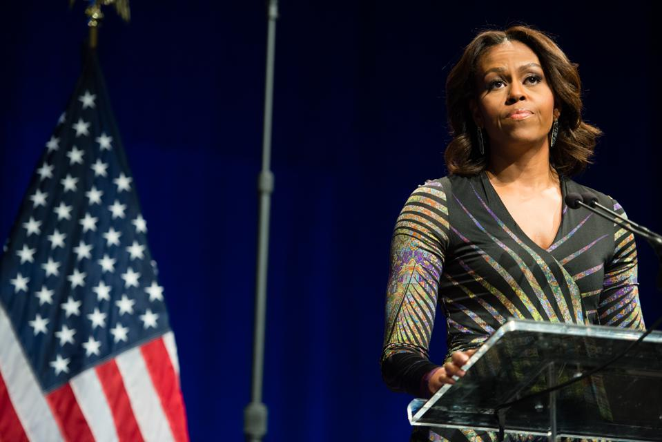 First lady, Michelle Obama was the keynote speaker at ″Change Direction″ a summit on mental health launched by Give an Hour, a nonprofit organization founded by Barbara Van Dahlen.