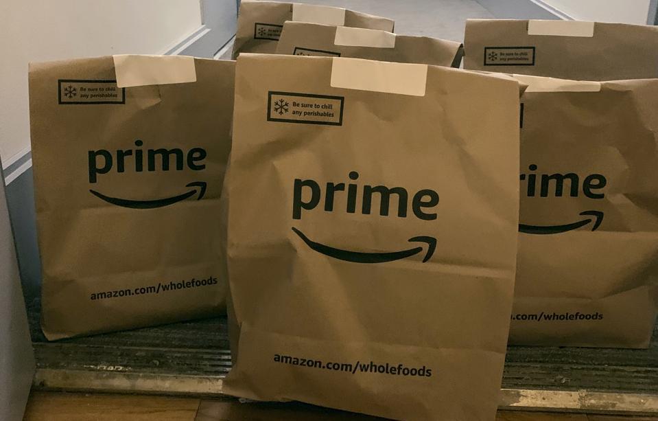 Virus Outbreak New York Groceries Amazon Whole Foods