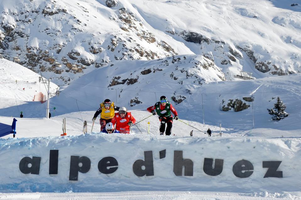 Alpe d'Huez ski resort- France