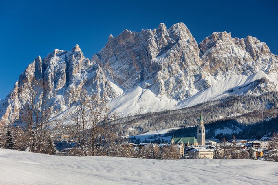 Cortina d'Ampezzo. ski resort, Italy