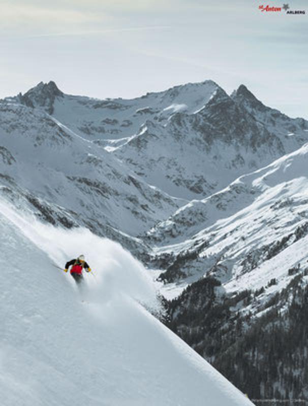 St Antom am Arlberg ski resort, Austria