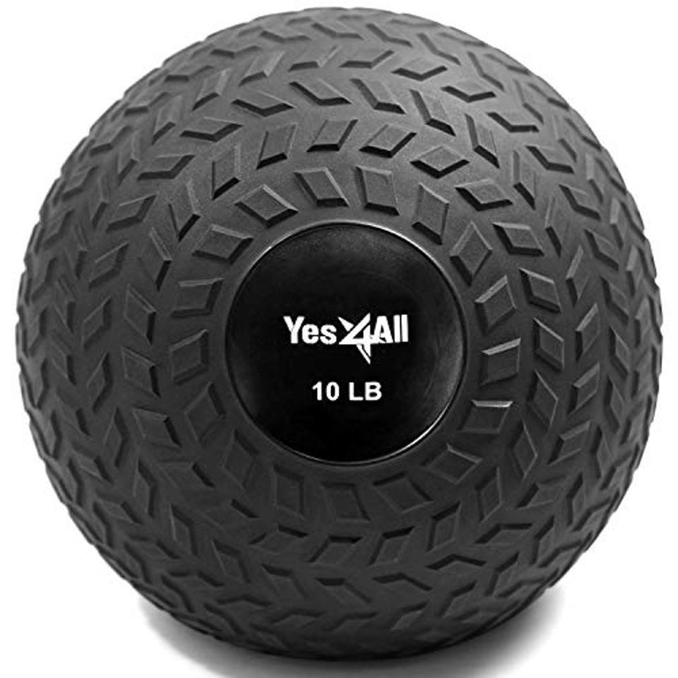 A medicine ball.