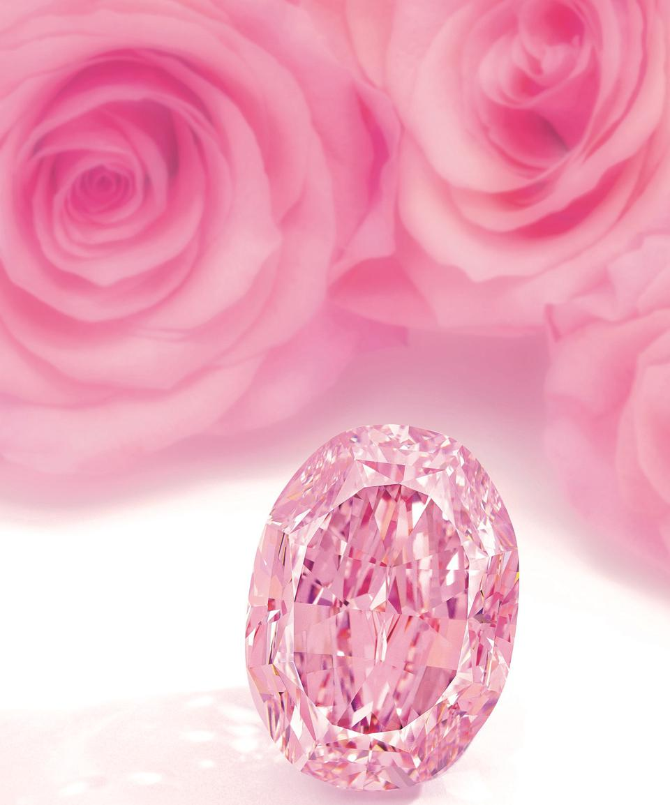 The 14.83-carat 'Spirit of the Rose' has an estimate of $23 - $38 million