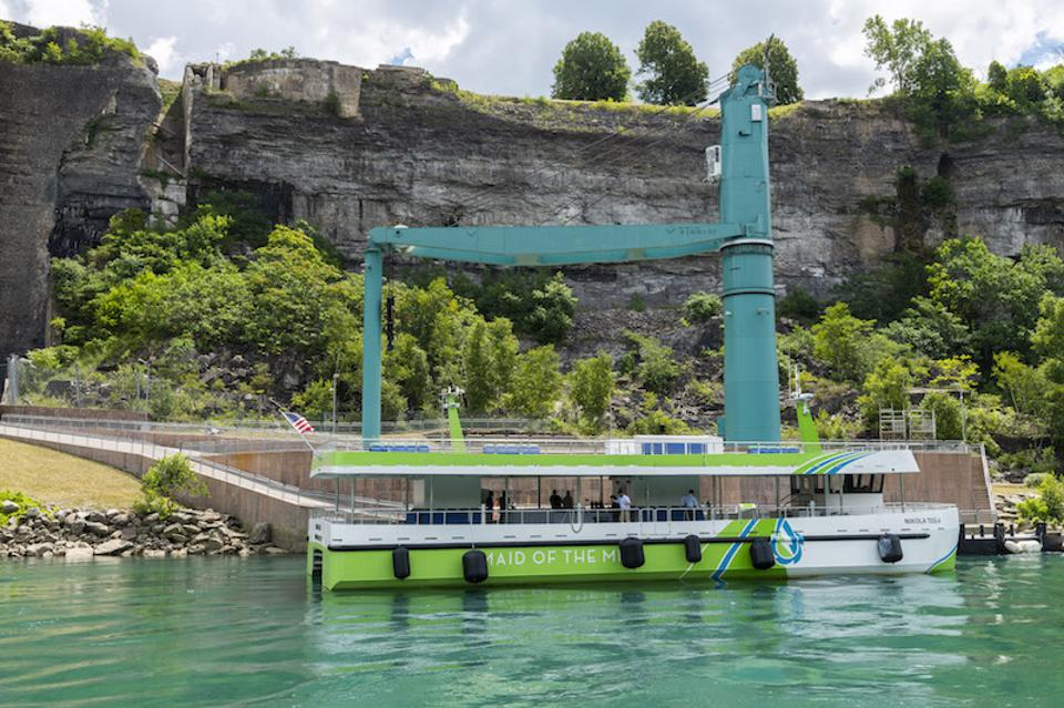 The Maid of the Mist has christened two new all-electric, zero-emission passenger vessels that will cruise along Niagara Falls.