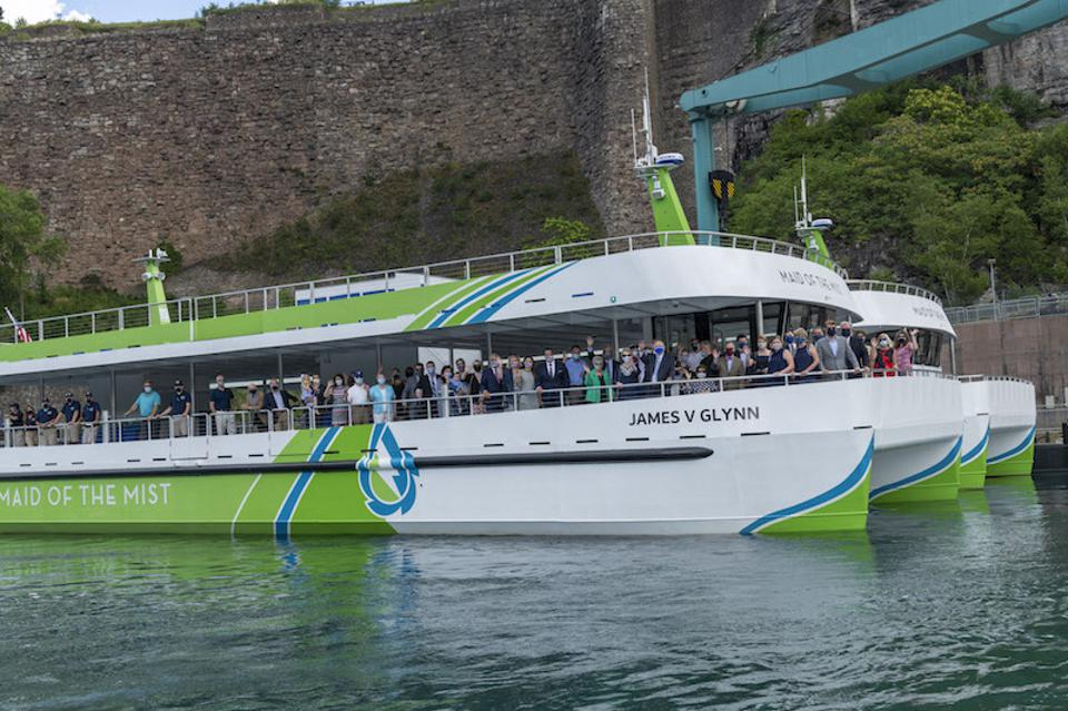 New Maid of the Mist's new all-electric, zero-emission passenger vessels.
