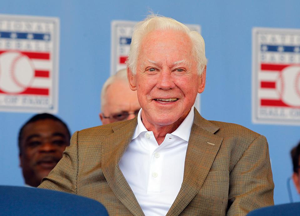 New York Yankees icon Whitey Ford at the 2012 Baseball Hall of Fame Induction Ceremony.