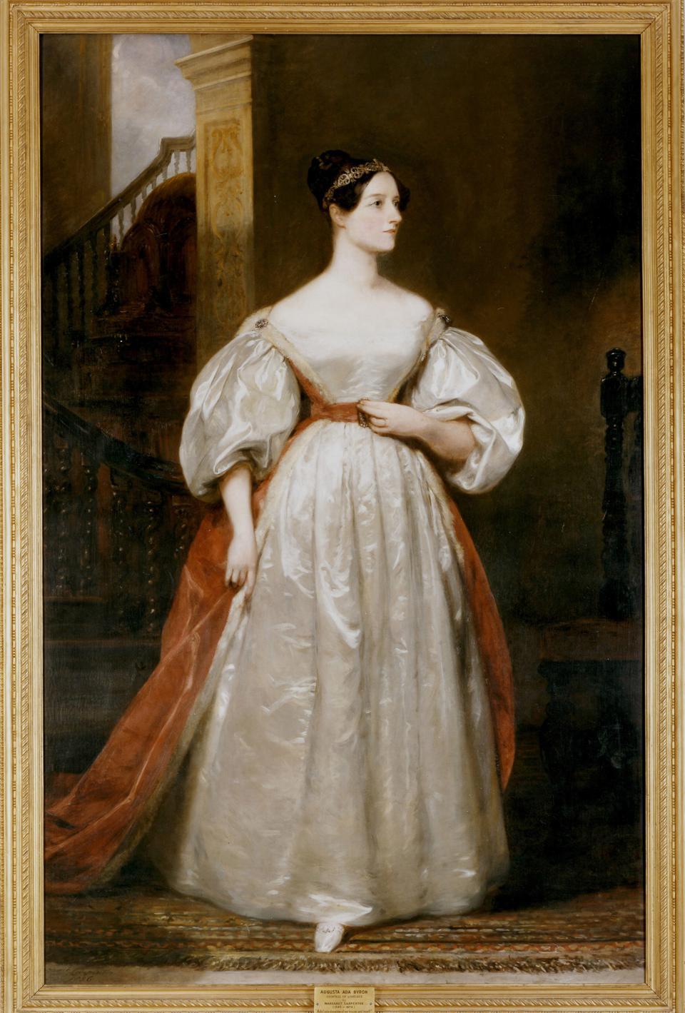 Augusta Ada, Countess Lovelace (1815-1852) English mathematician and writer. Daughter of the poet Byron. Friend of Charles Babbage. Devised programme for his Analytical Engine. Portrait by Margaret Carpenter. ...