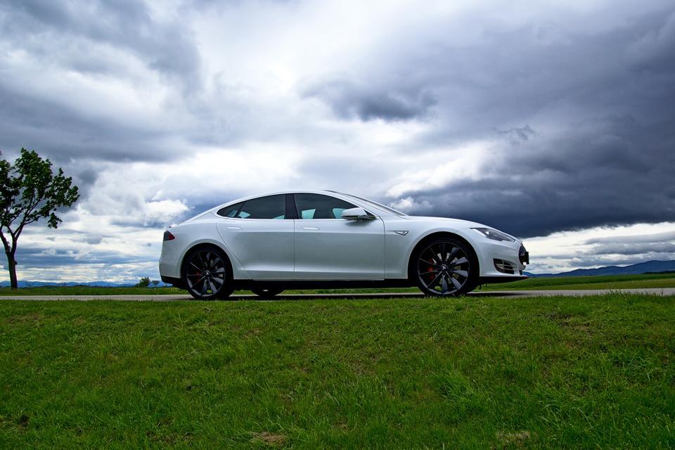 Tesla Model S & Clouds