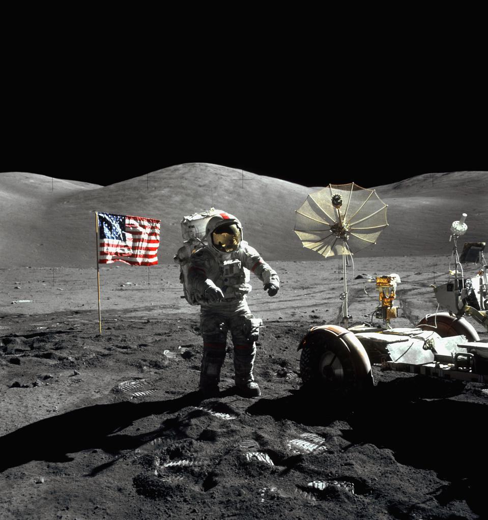 Astronaut with a Lunar Rover