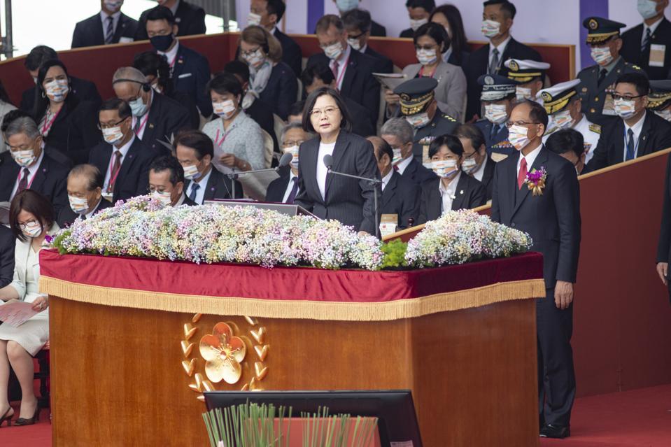 ROC (Republic of China) President madam Tsai Ing-wen giving...
