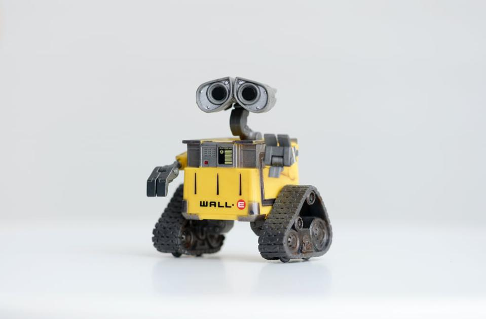 This robot is not exactly in the cloud: Wall-E from the movie by Pixar.