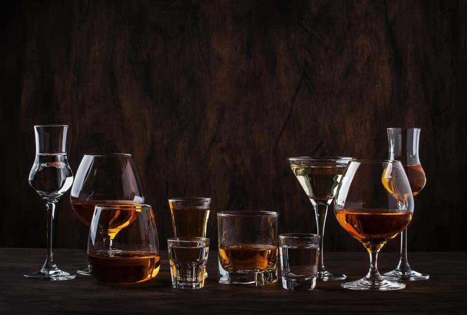 A selection of spirits.