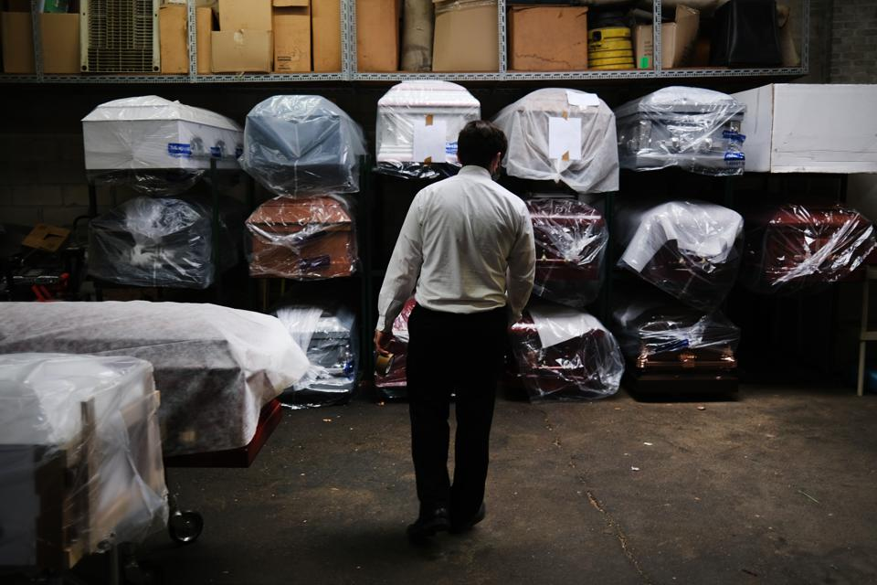 Funeral Home In New York Experiences Surge Of Deaths Amid Coronavirus Pandemic