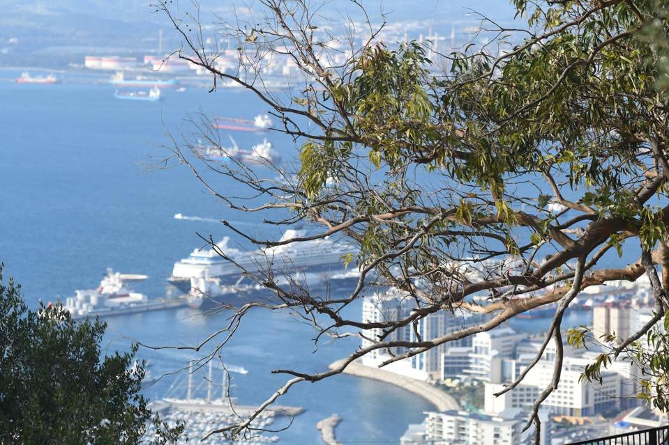 Daily Life In Gibraltar with cruise ships and port