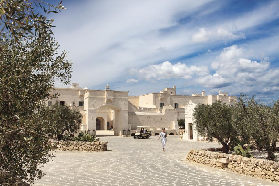Borgo Egnazia in Puglia resembles a traditional masseria and medieval village.