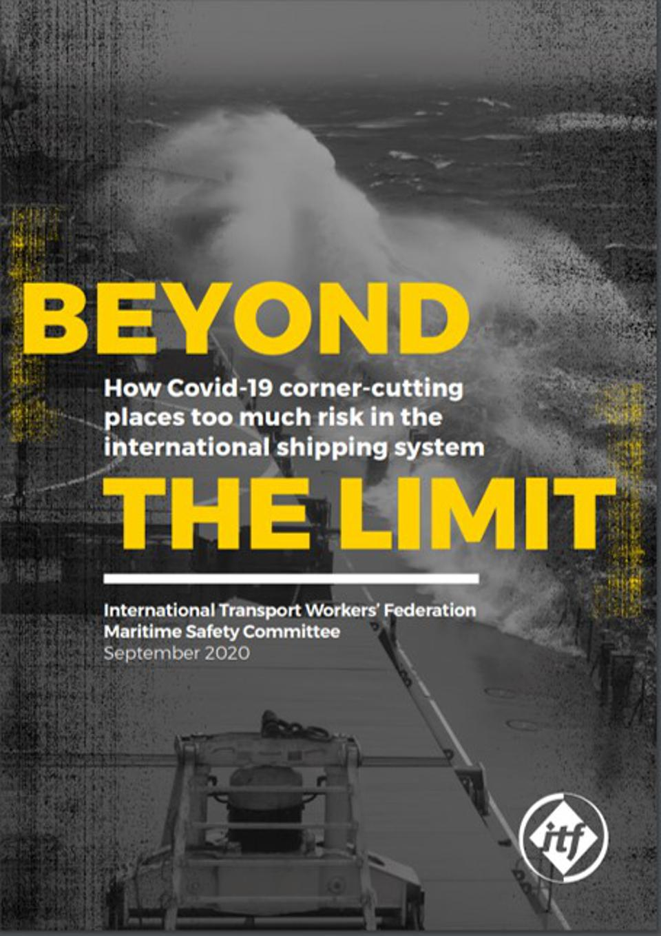Report from International Transport Workers Federation highlighting the risk that global shipping poses to the world due to unsafe manning levels on ships internationally.
