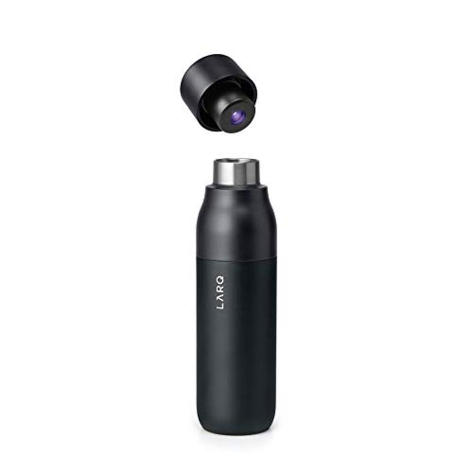 LARQ Insulated Self-Cleaning and Stainless Steel Water Bottle With UV Water Purifier, 25oz, Obsidian Black