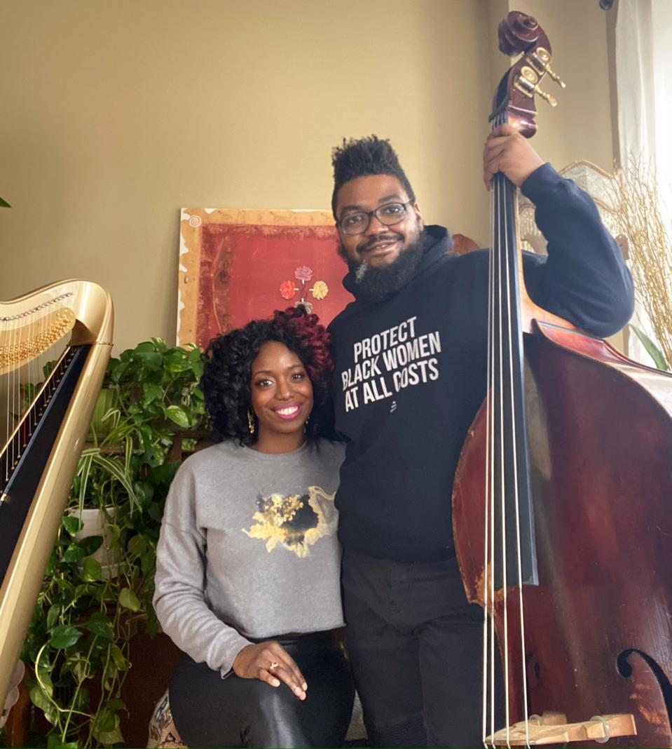 Harpist Brandee Younger and bassist Dezron Douglas