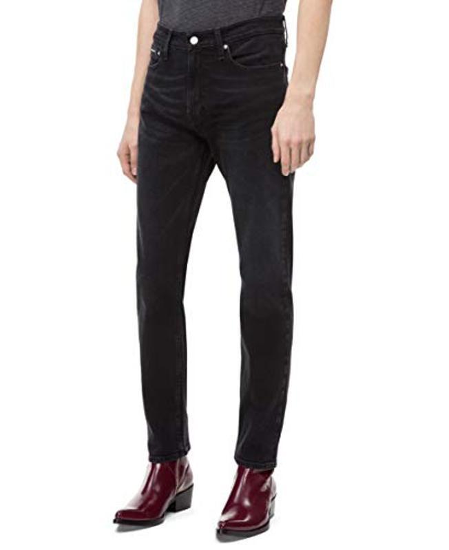Amazon Prime Day Calvin Klein Men's Athletic Taper Fit Jeans, Forever Black