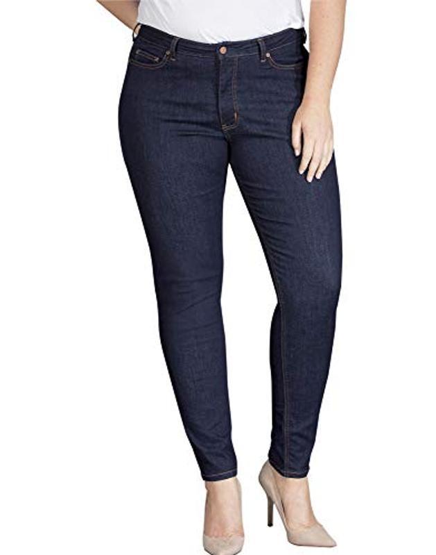 Amazon prime Day Dickies Women's Perfect Shape Denim Jean-Skinny Stretch Plus Size