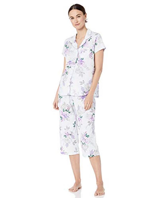 Karen Neuburger Women's Short-Sleeve Girlfriend Crop Pajama Set