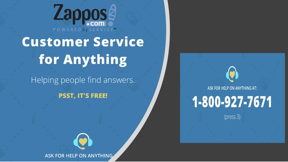 Zappos: Customer Service for Anything web page.