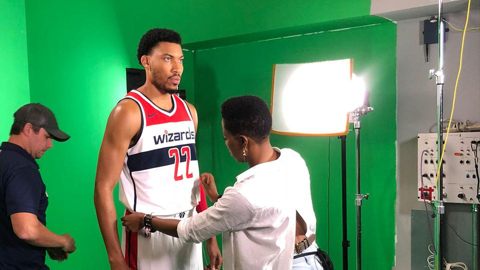Celebrity stylist Joy Kingsley-Ibeh styling NBA player Otto Porter Jr.
