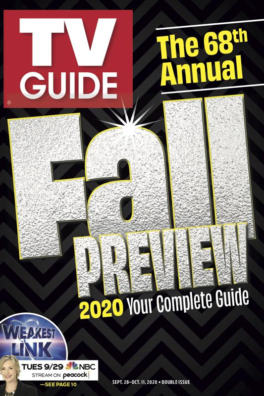 TV Guide Fall Preview cover, 2020.