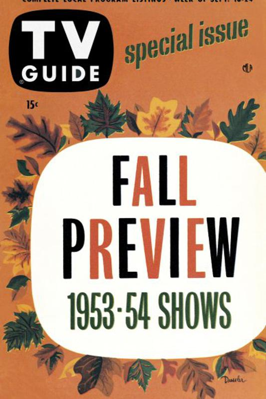 The TV Guide 1953 Fall Preview issue.