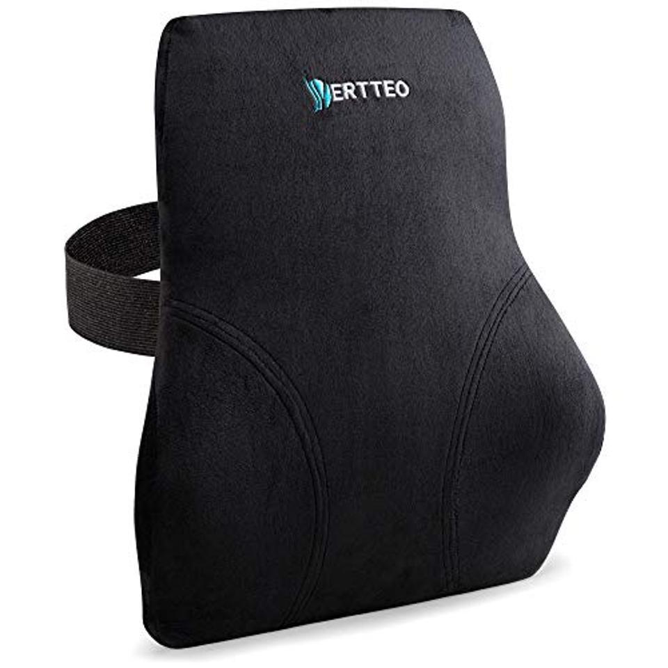 Vertteo Full Lumbar Black Support Premium Entire High Back Pillow for Office Desk Chair