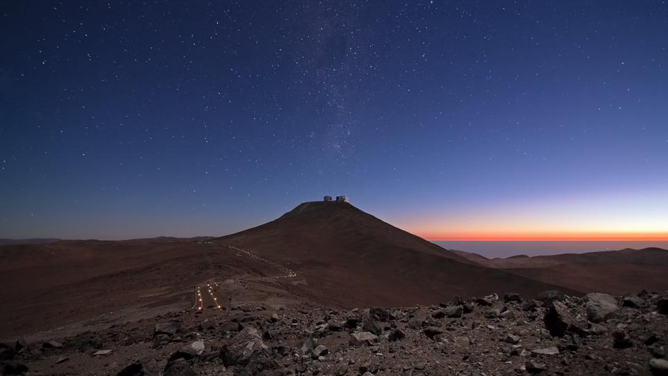 ESO's Paranal Observatory in Chile's Atacama desert, home to the Very Large Telescope (VLT).