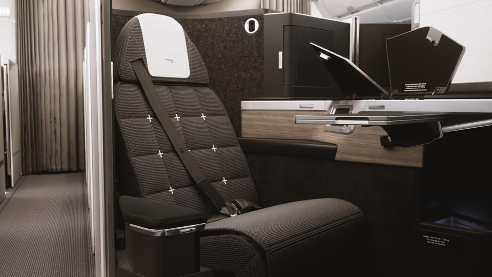 British Airways business class suite