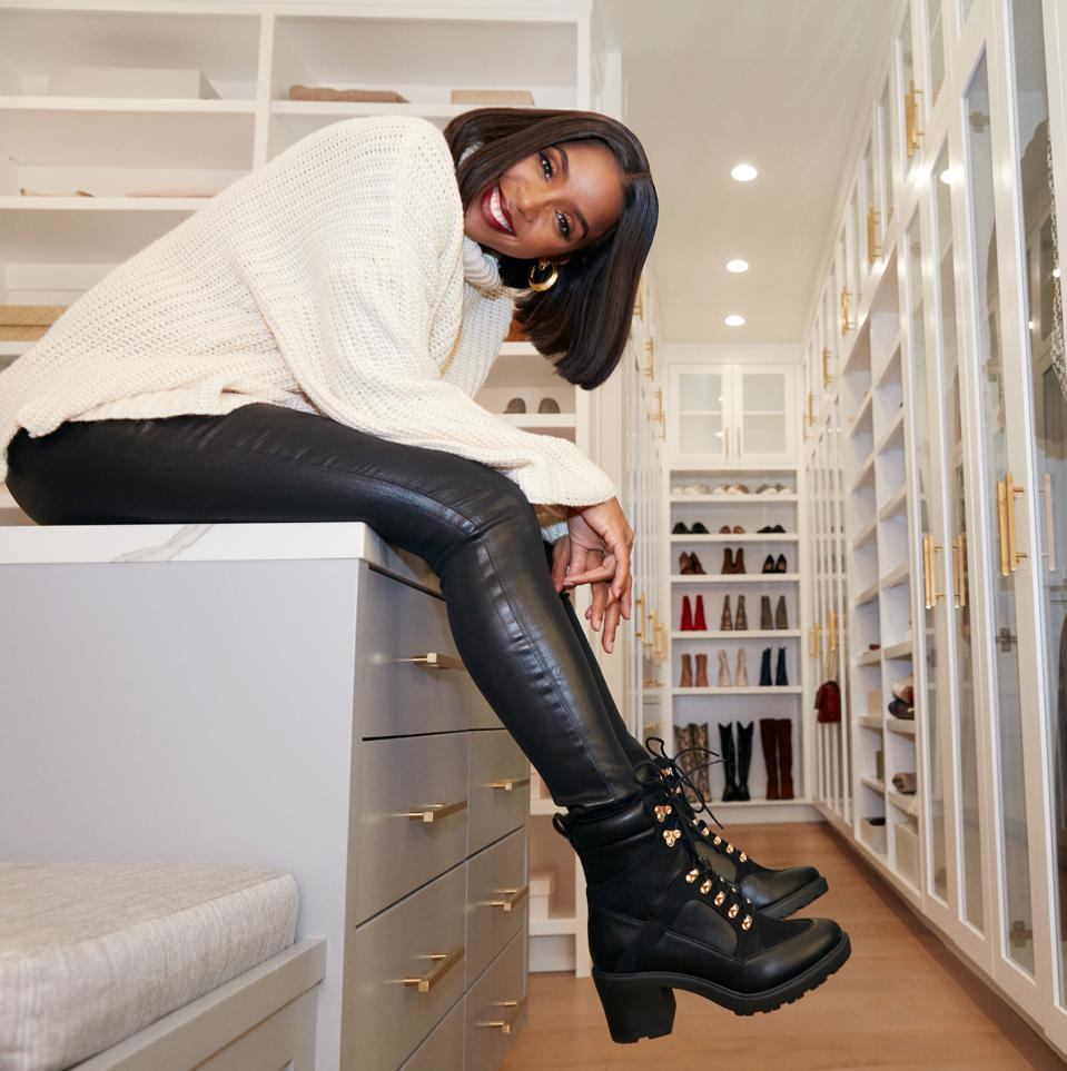 Kelly Rowland wearing pieces from her new collection with JustFab