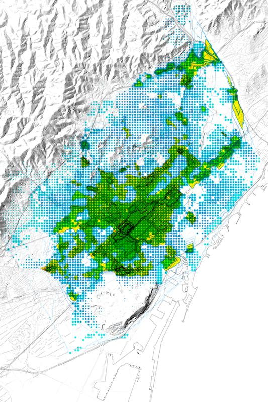 People's exposure to air pollution in Barcelona, mapped.