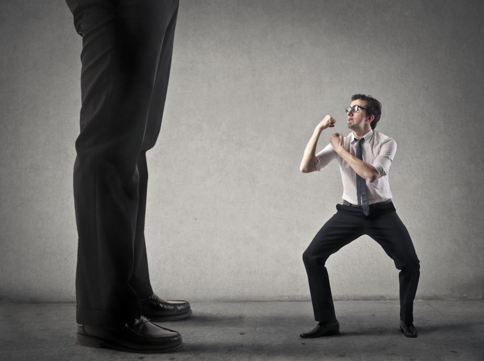 Fight against someone bigger