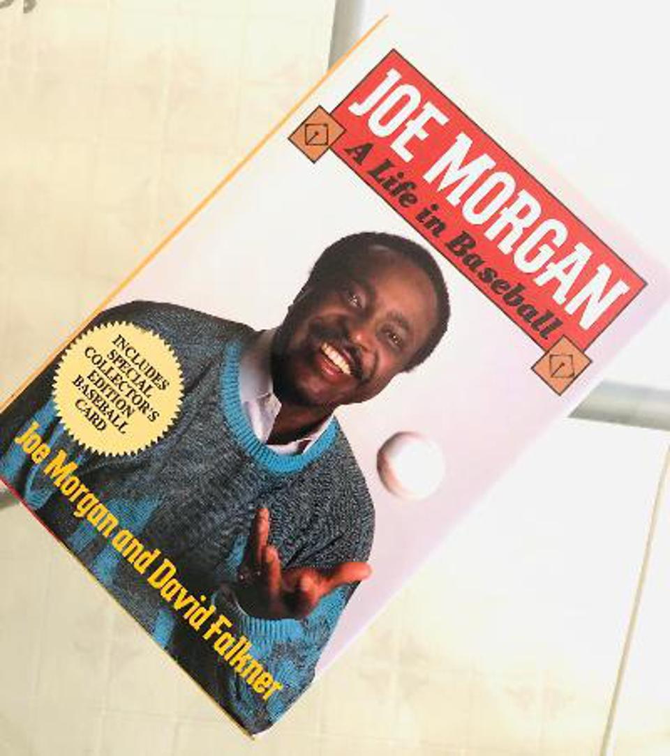Joe Morgan on the cover of his autobiography.