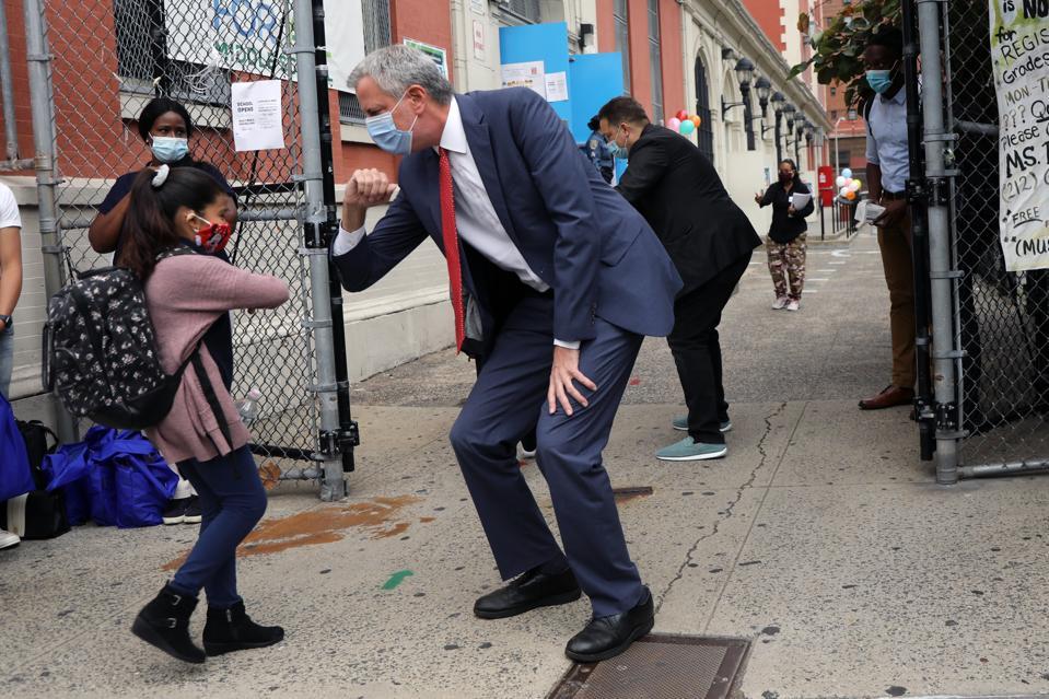 New York City School Children Return To In-Person Classes