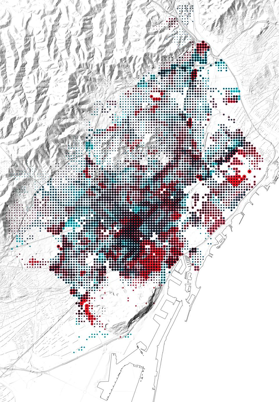 The impact of air pollution on human's health in Barcelona, mapped.