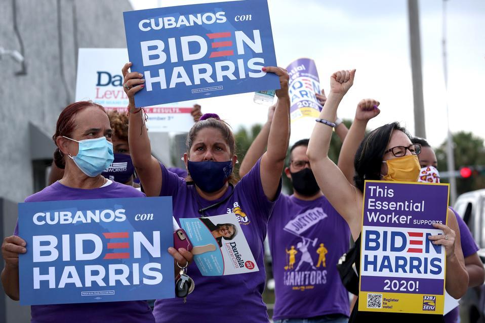 Workers Caravan For Biden In Southern Florida