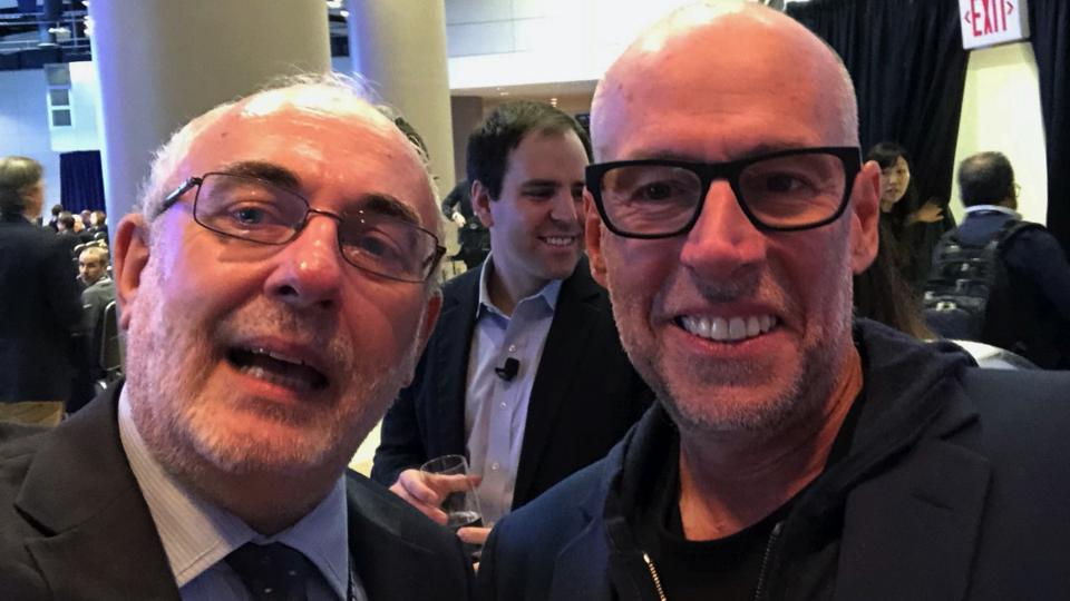 The author with Professor Scott Galloway in Washington DC.